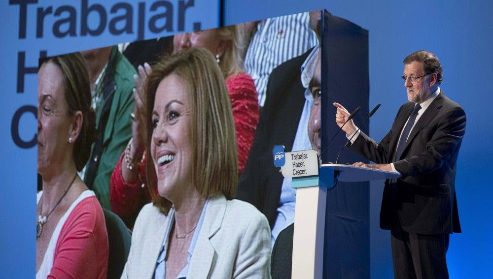 El presidente del Gobierno, Mariano Rajoy, en el mitin de Guadalajara