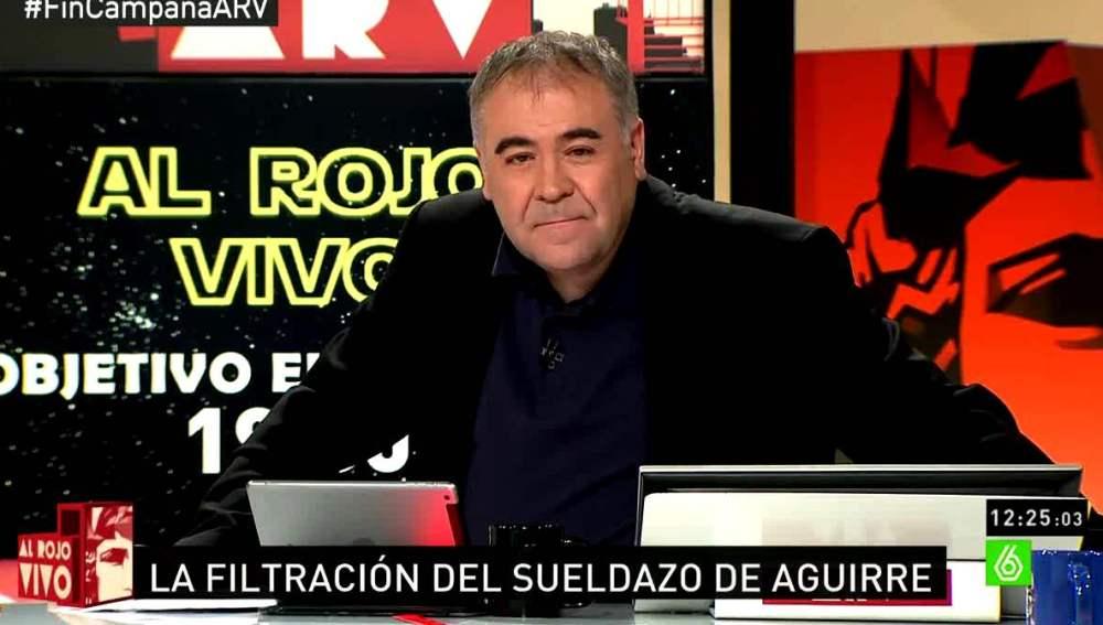 Antonio García Ferreras habla de Aguirre