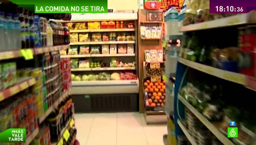 Comida en un supermercado