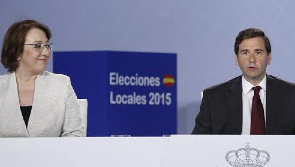 Carmen Martínez Castro y Luis Aguilera durante la rueda de prensa en Ifema
