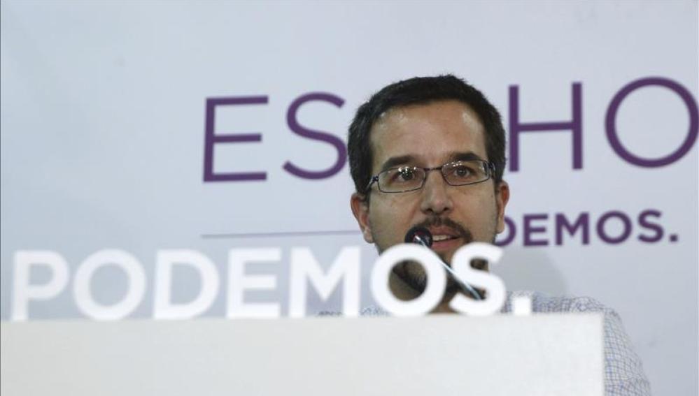 El secretario de Organización de Podemos, Sergio Pascual
