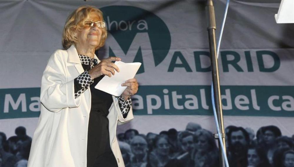 Manuela Carmena valora el resultado del 24M
