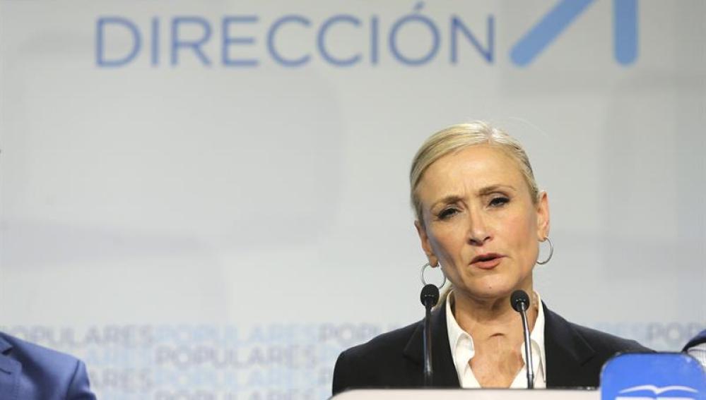 Cristina Cifuentes valora los resultados electorales
