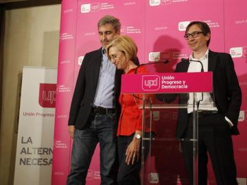 Díez con David Ortega y Ramón Marcos
