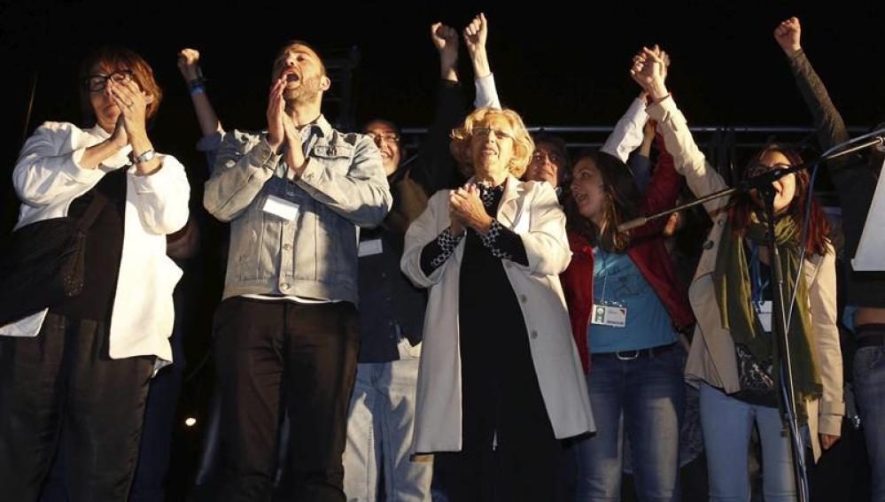 Carmena arrebataría la Alcaldía de Madrid a Aguirre si pacta con el PSOE