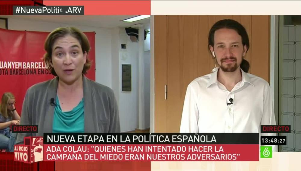 Ada Colau y Pablo Iglesias