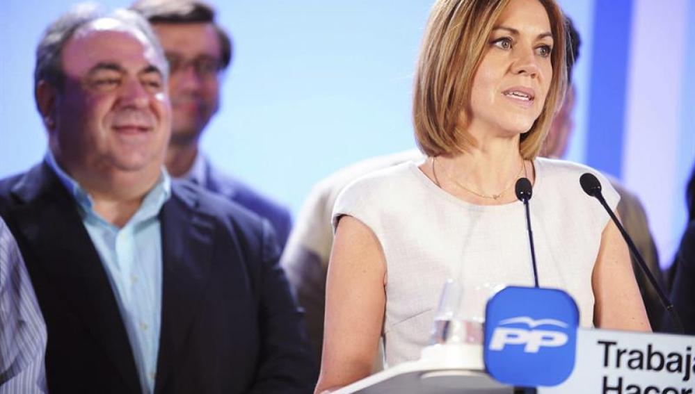 Dolores de Cospedal comparece para valorar el resultado de las elecciones