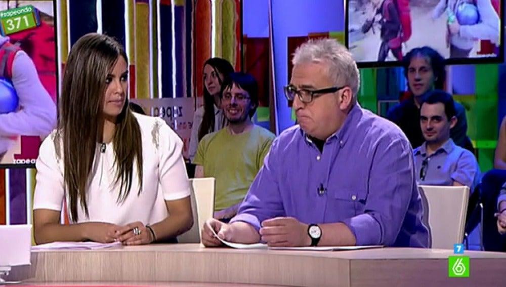 Leo Harlem y Cristina Pedroche, en 'Zapeando'
