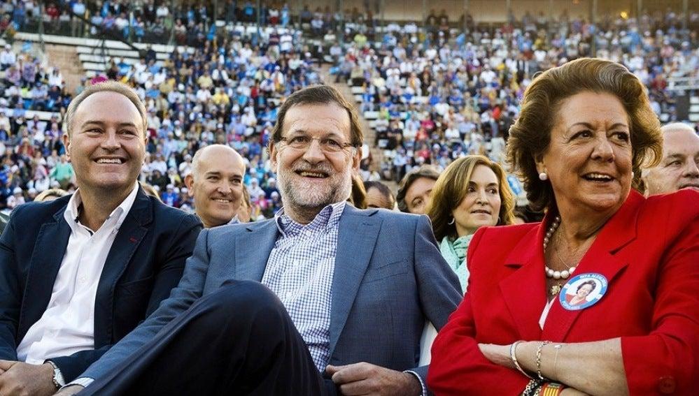 Fabra, Rajoy y Barberá