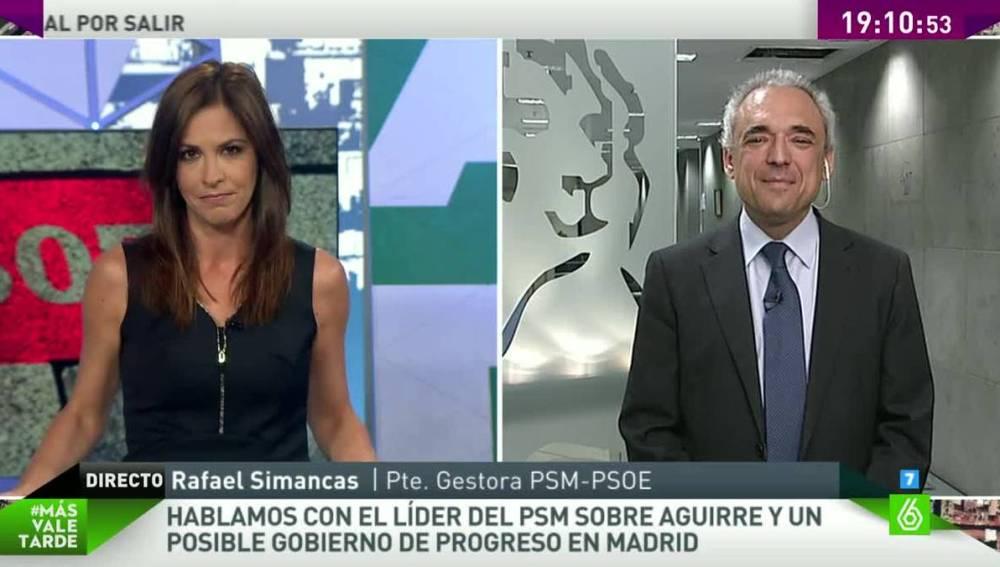 Simancas entrevistado en Más Vale Tarde
