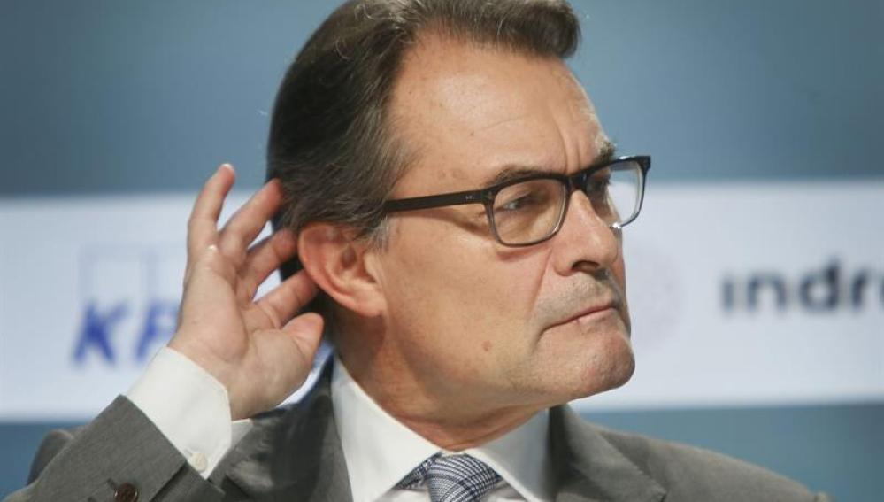 Artur Mas, durante la reunión del Círculo de Economía