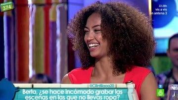 La actriz Berta Vázquez visita el plató de 'Zapeando'