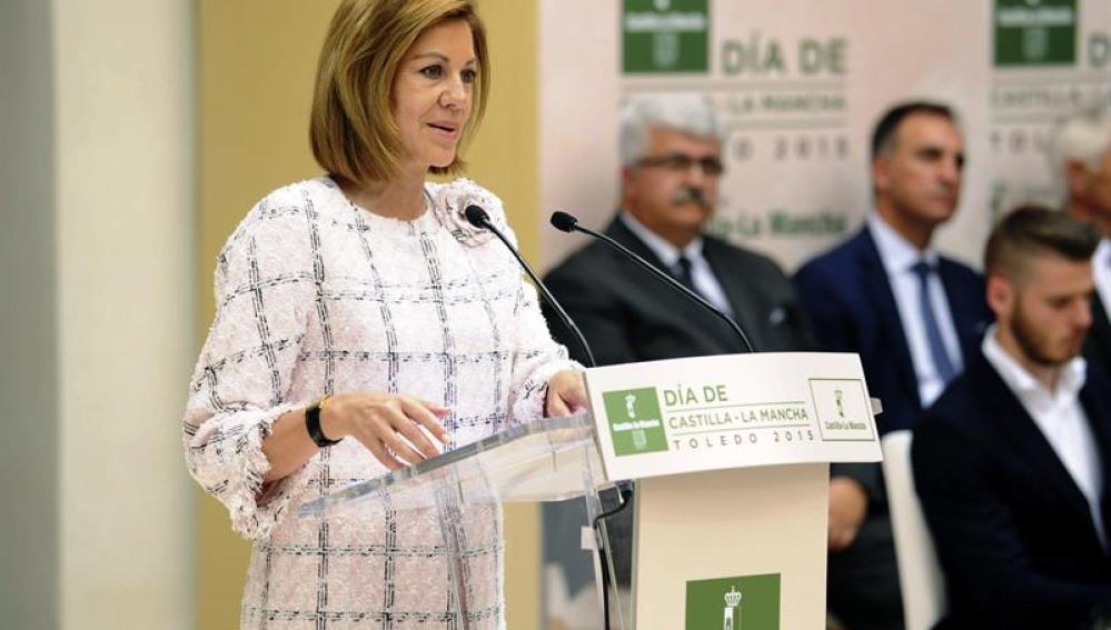 La presidenta en funciones de Castilla-La Mancha, María Dolores de Cospedal