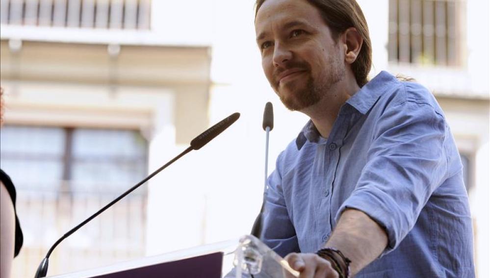 Pablo Iglesias en un acto en Toledo