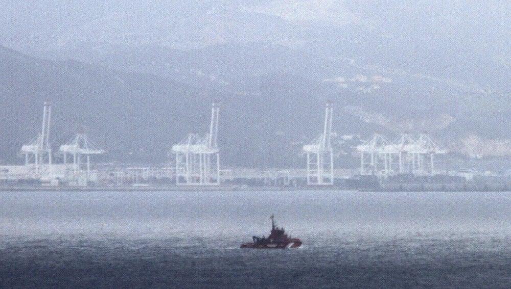 Embarcación de Salvamento Marítimo durante una operación de rescate