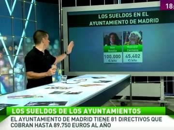 Manuel Marlasca analiza los sueldos en el Ayuntamiento de Madrid