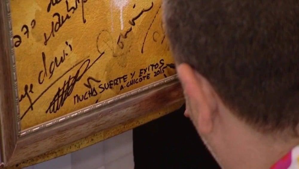 Firma de Alberto Chicote