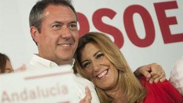 Juan Espadas y Susana Díaz