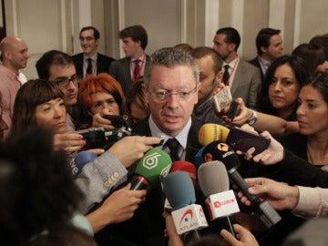 El exministro de Justicia, Alberto Ruiz Gallardón