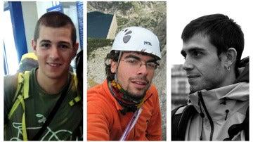 Los alpinistas fallecidos Pol Rodríguez, Alex Vicedo y Jos Cotrina