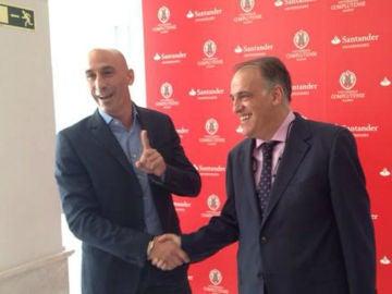 Luis Rubiales y Javier Tebas, presidentes de la AFE y la LFP