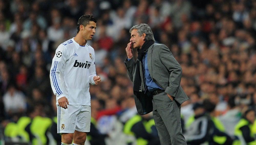 Resultado de imagen para Mourinho y cristiano ronaldo