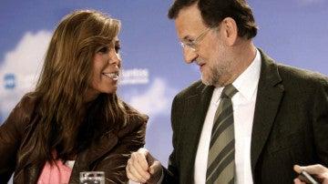 Alicia Sánchez Camacho y Mariano Rajoy
