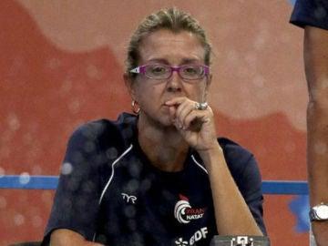 Anna Tarrés, durante una competición