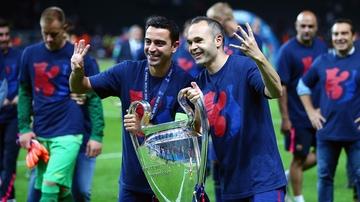 Xavi e Iniesta sostienen su cuarta Champions League