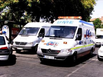 Imagen de una ambulancia en Murcia.