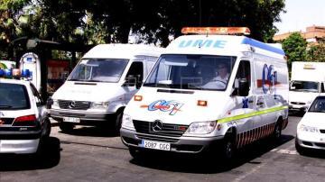 Imagen de una ambulancia en Murcia