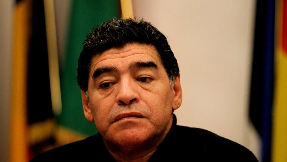 Diego Armando Maradona, durante una rueda de prensa