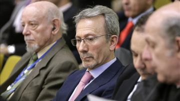 El expresidente de Fórum Filatélico, Francisco Briones, durante el juicio en Madrid.