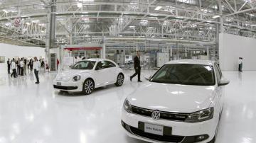Modelos de Volkswagen en exposición