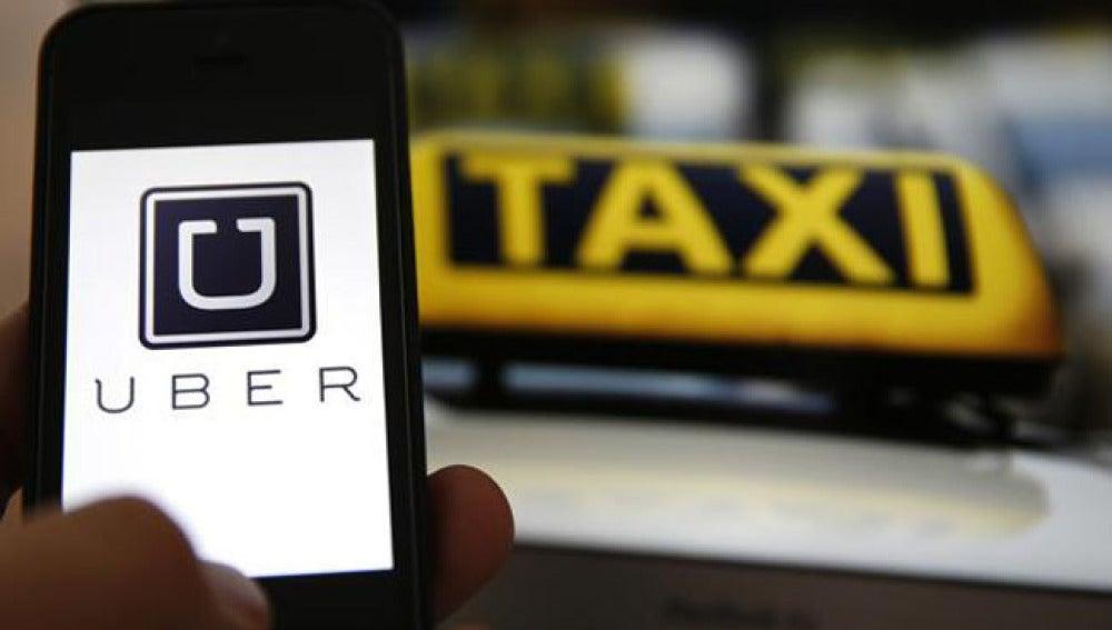 Taxi de la compañía Uber