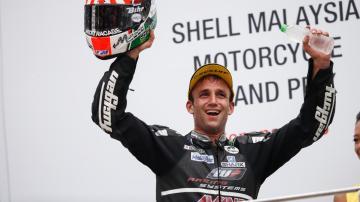 Zarco en el podio de Moto 2