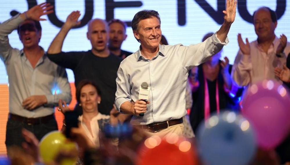 El candidato a la presidencia de Argentina por Cambiemos Mauricio Macri