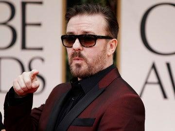 Ricky Gervais en la alfombra roja de 2011