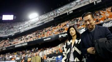 Peter Lim, en Mestalla
