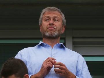 Roman Abramovich, durante un partido del Chelsea