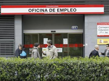 Oficina de empleo en el madrileño Paseo de las Acacias