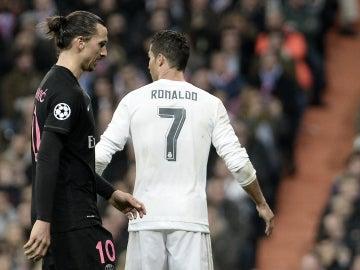 Cristiano Ronaldo junto a Zlatan Ibrahimovic