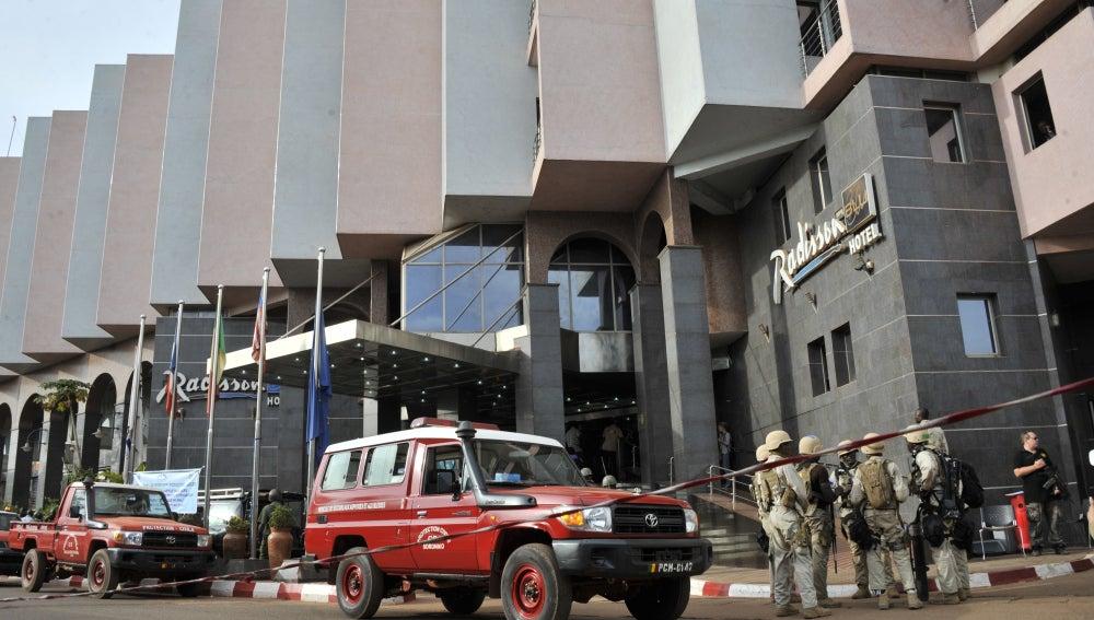 Hotel de Mali en el que se ha producido el ataque