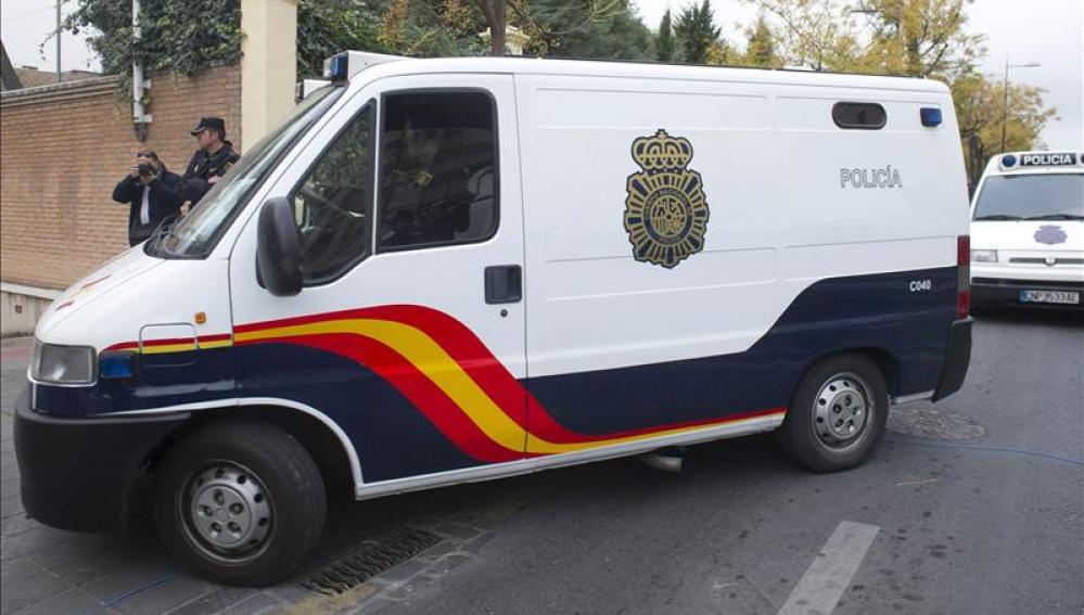 Imagen de un furgón de la Policía Nacional