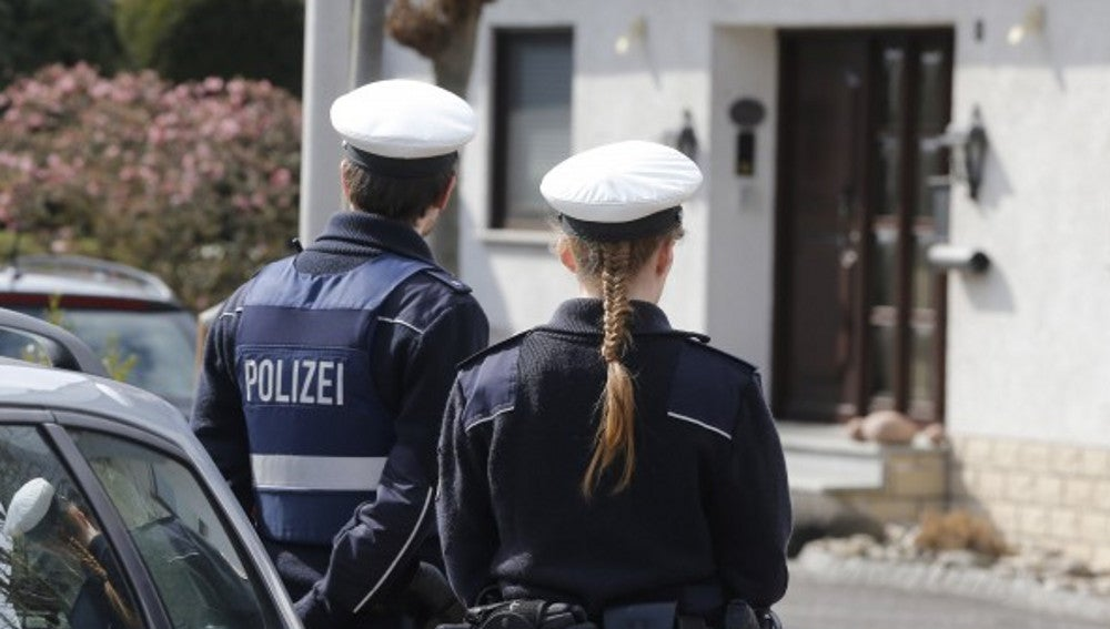 Dos agentes de la policía alemana en una foto de archivo
