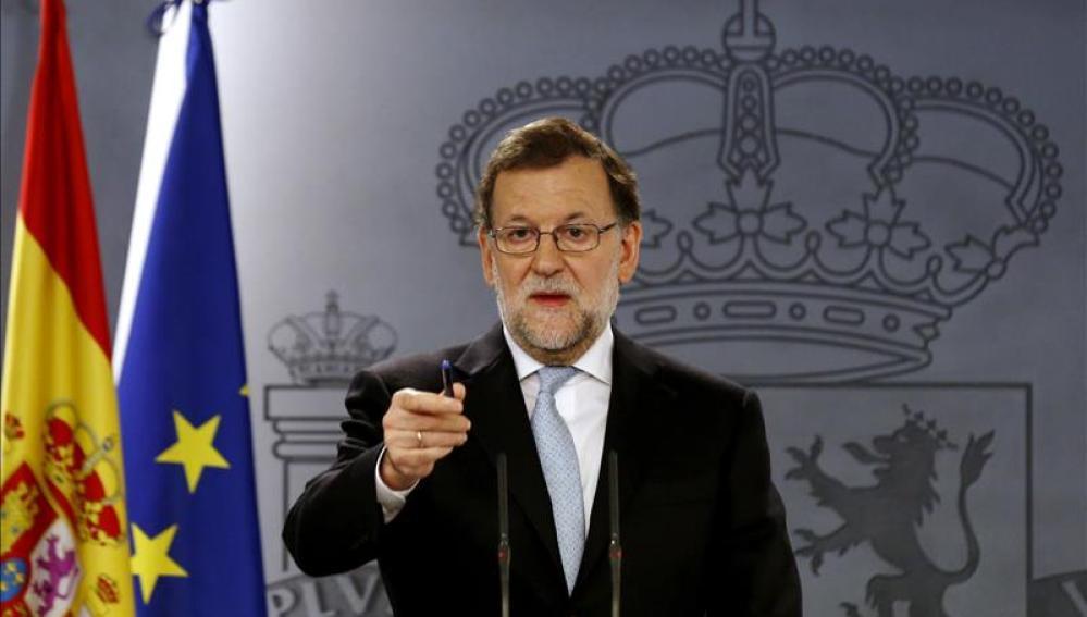 Rajoy, durante la rueda de prensa del Consejo de Ministros