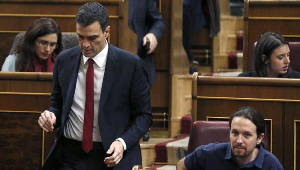Sánchez y Pablo Iglesias