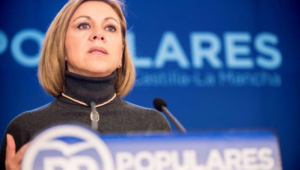 La presidenta del PP de Castilla-La Mancha, Dolores de Cospedal