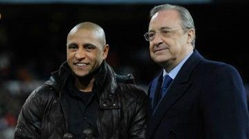 Roberto Carlos y Florentino Pérez