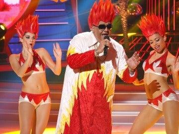 Florentino imita a King Africa